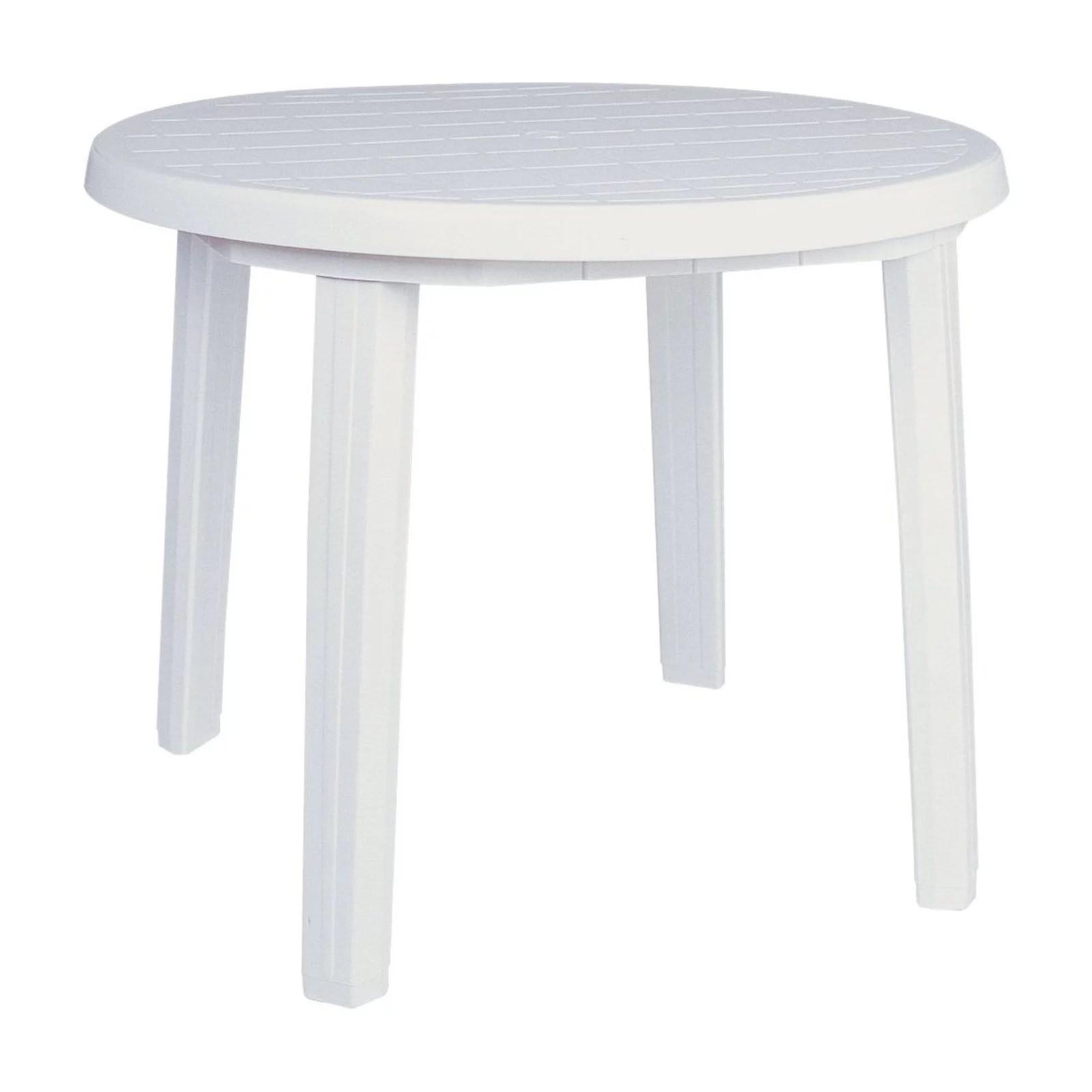 compamia ronda resin 35 5 in round patio dining table walmart com