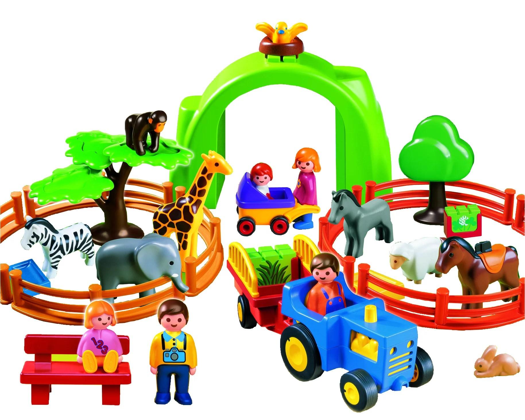 Playmobil 1 2 3 Large Zoo