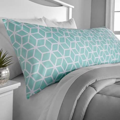mainstays microfiber 20 x 52 mint body pillow cover 1 each