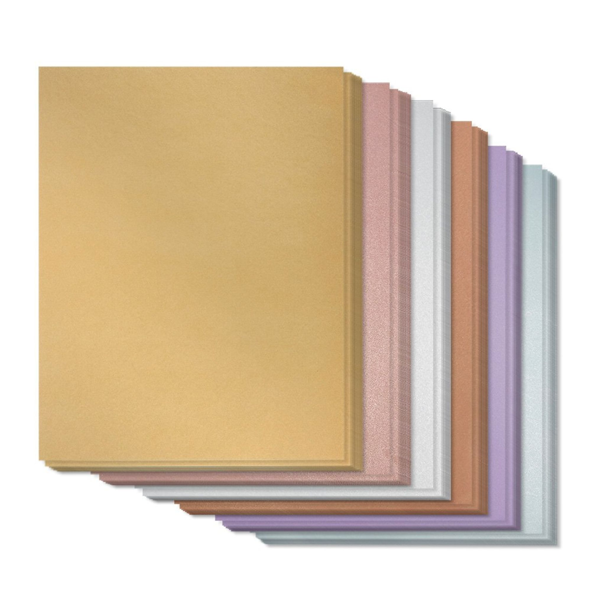 96 Pack Metallic Paper Shimmer Cardstock Assorted Papers