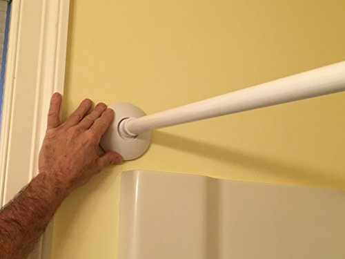 stay put shower curtain rod mount 2 pack