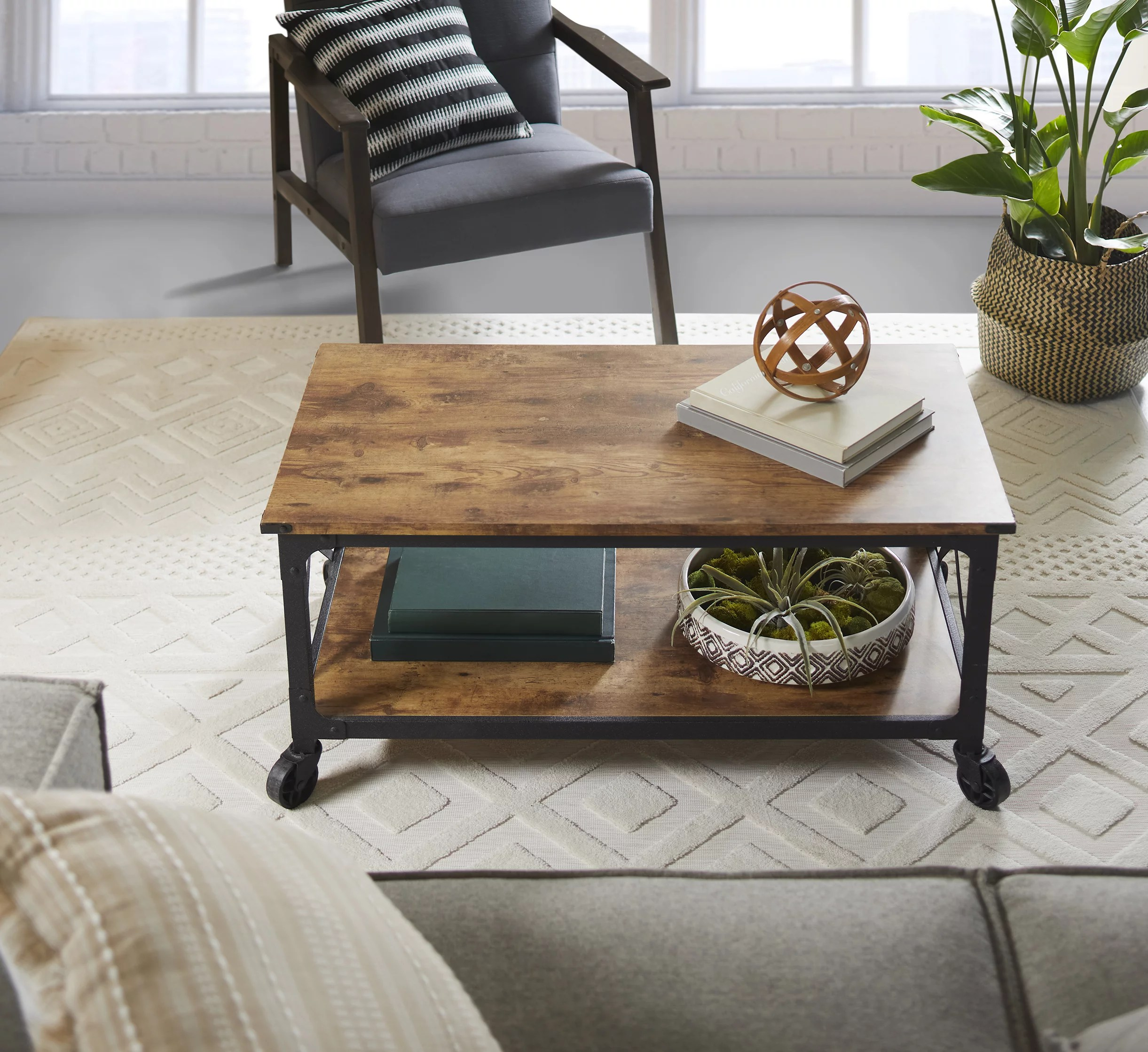 better homes gardens rustic country coffee table weathered pine finish walmart com