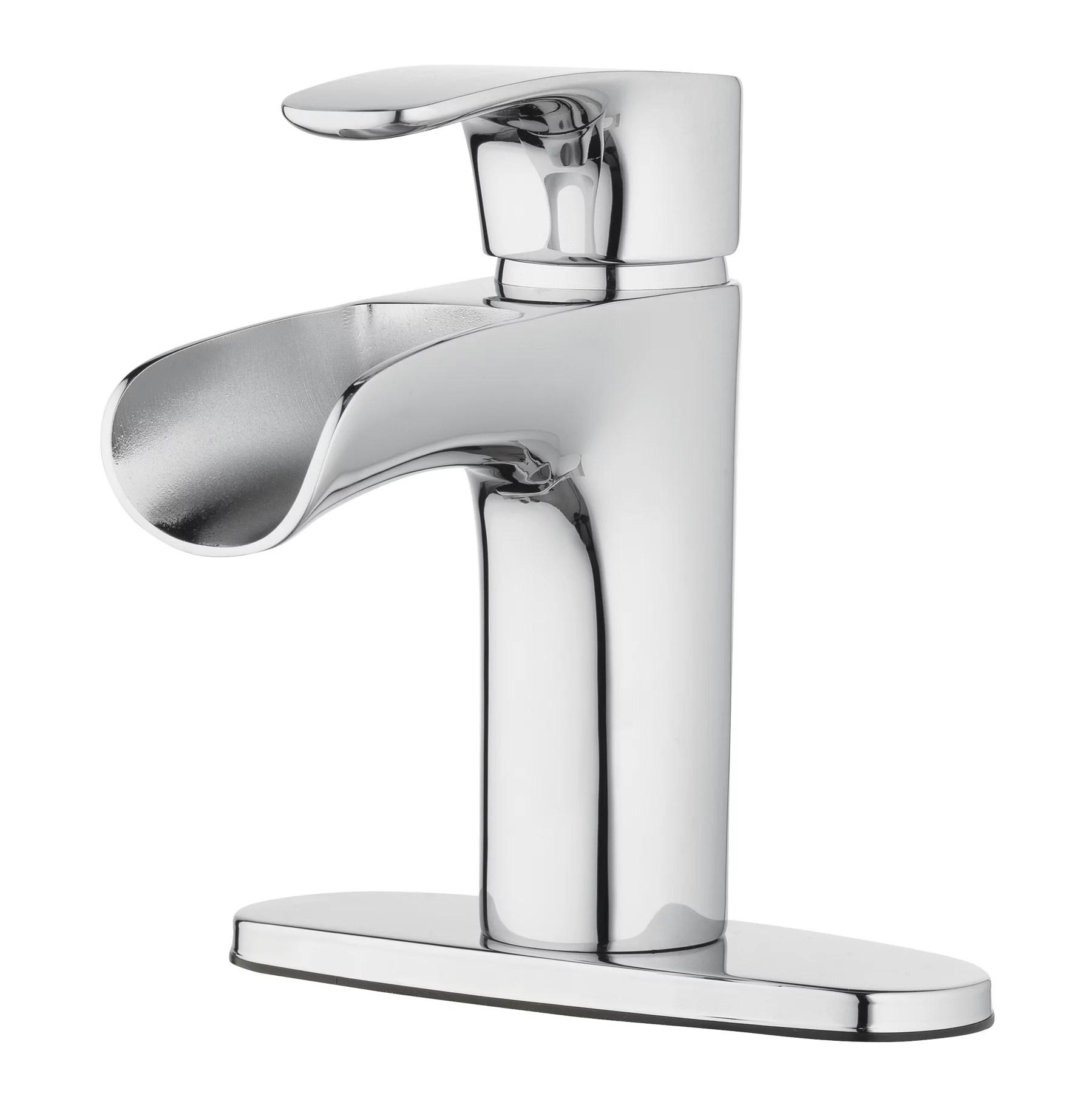 better homes gardens chrome single handle waterfall bathroom faucet walmart com walmart com