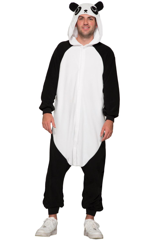 Panda Jumpsuit Adult Costume Walmartcom
