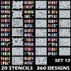 1 99 10 Tips Sheet Nail Vinyls Easy Use Art Manicure Stencil Stickers 9 Patterns Bornpretty