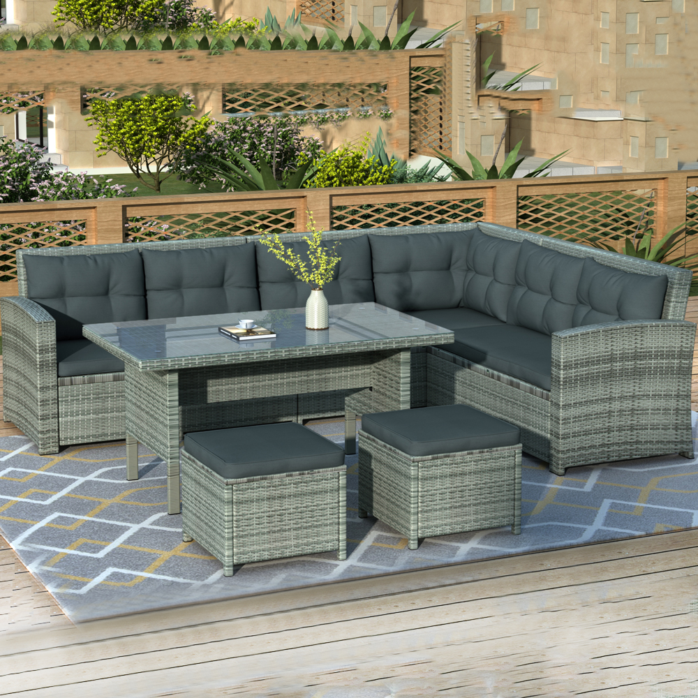 clearance patio sectional sofa set 6 piece outdoor patio on walmart bedroom furniture clearance id=43119