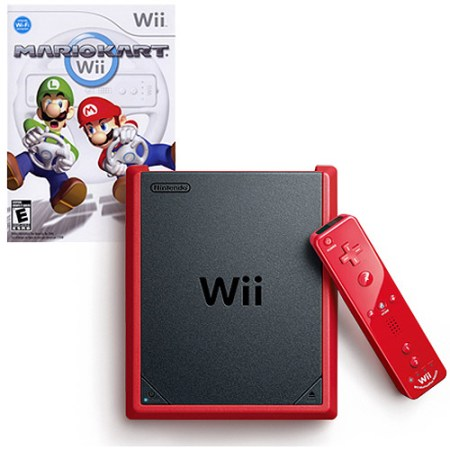 Nintendo Wii Mini Red with Mario Kart