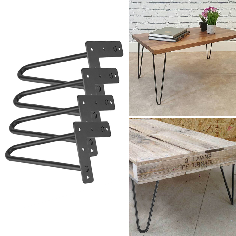 black hairpin legs set for 4 heavy duty table legs home accessories for diy handcrafts furniture