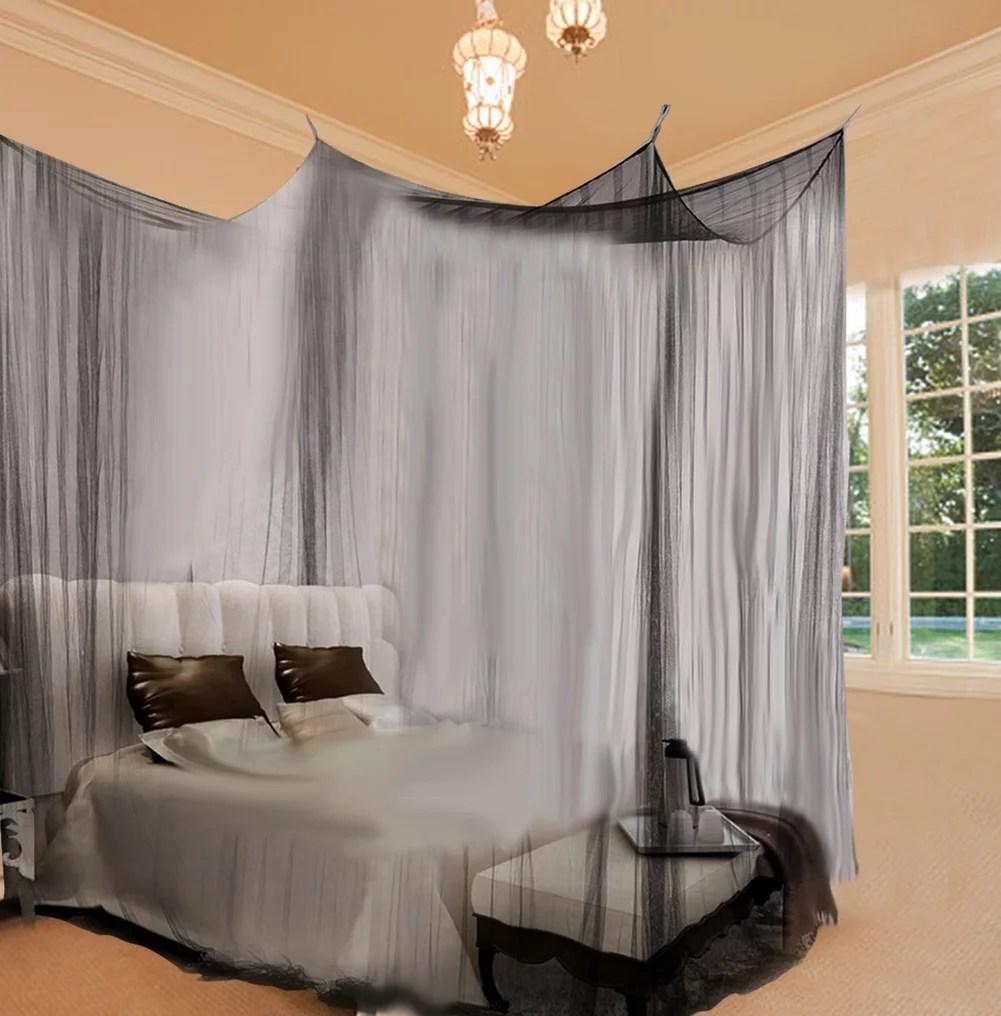 greensen 4 corner post bed canopy mosquito net full queen king size bedding 4 corner mosquito net mosquito net
