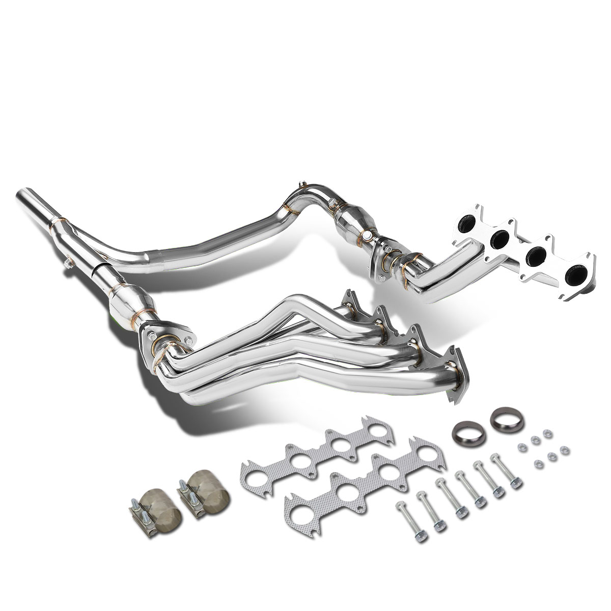 https www walmart com ip for 2004 to 2010 ford f150 5 4l v8 4wd long tube 4 2 1 exhaust header manifolds gaskets y pipe 05 06 07 08 09 559615346