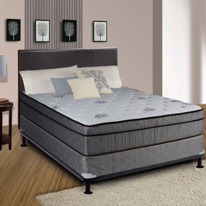 Continental Sleep Fifth Ave Collection 13 Fully Assembled Foam Encased Soft Eurotop Orthopedic Mattress Set With Box Spring Multiple Sizes