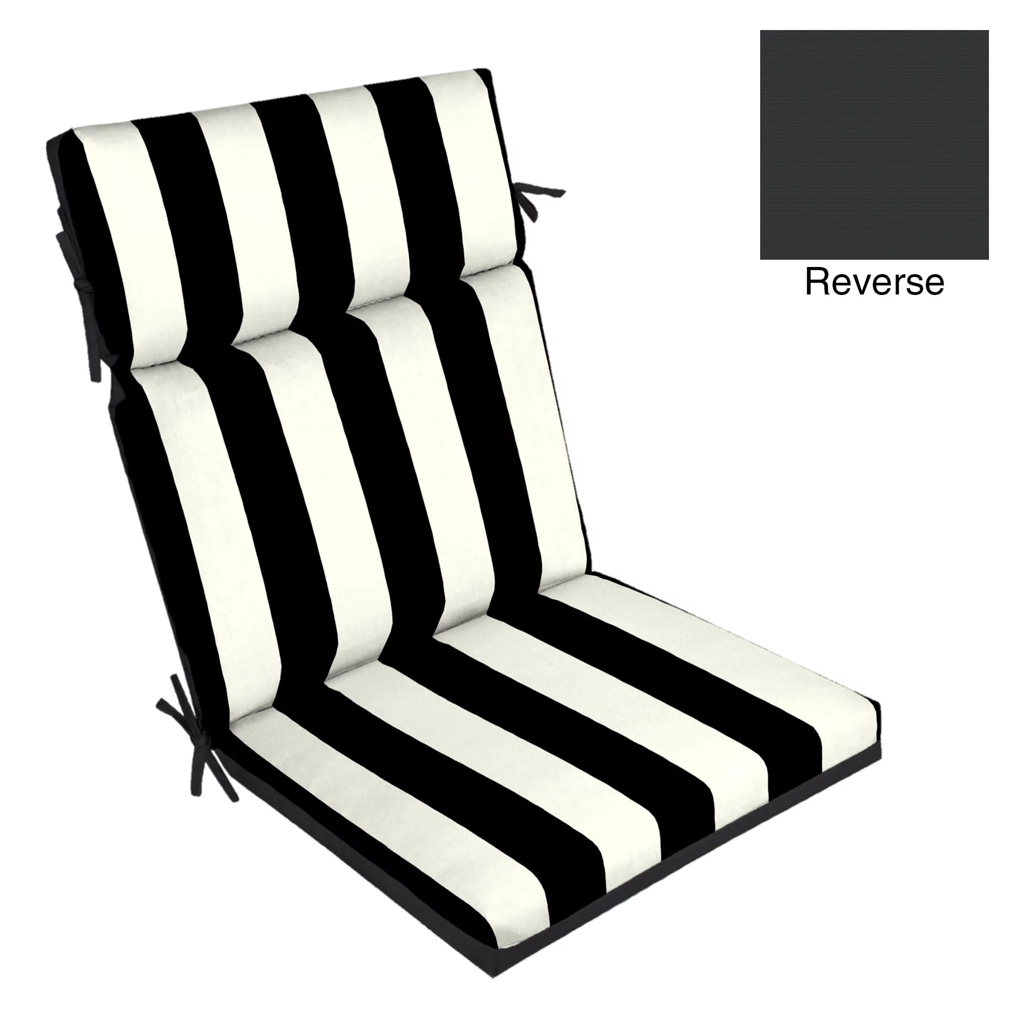 better homes amp gardens black stripe 44 x 21 in chair on Black And White Striped Outdoor Seat Cushions id=86629