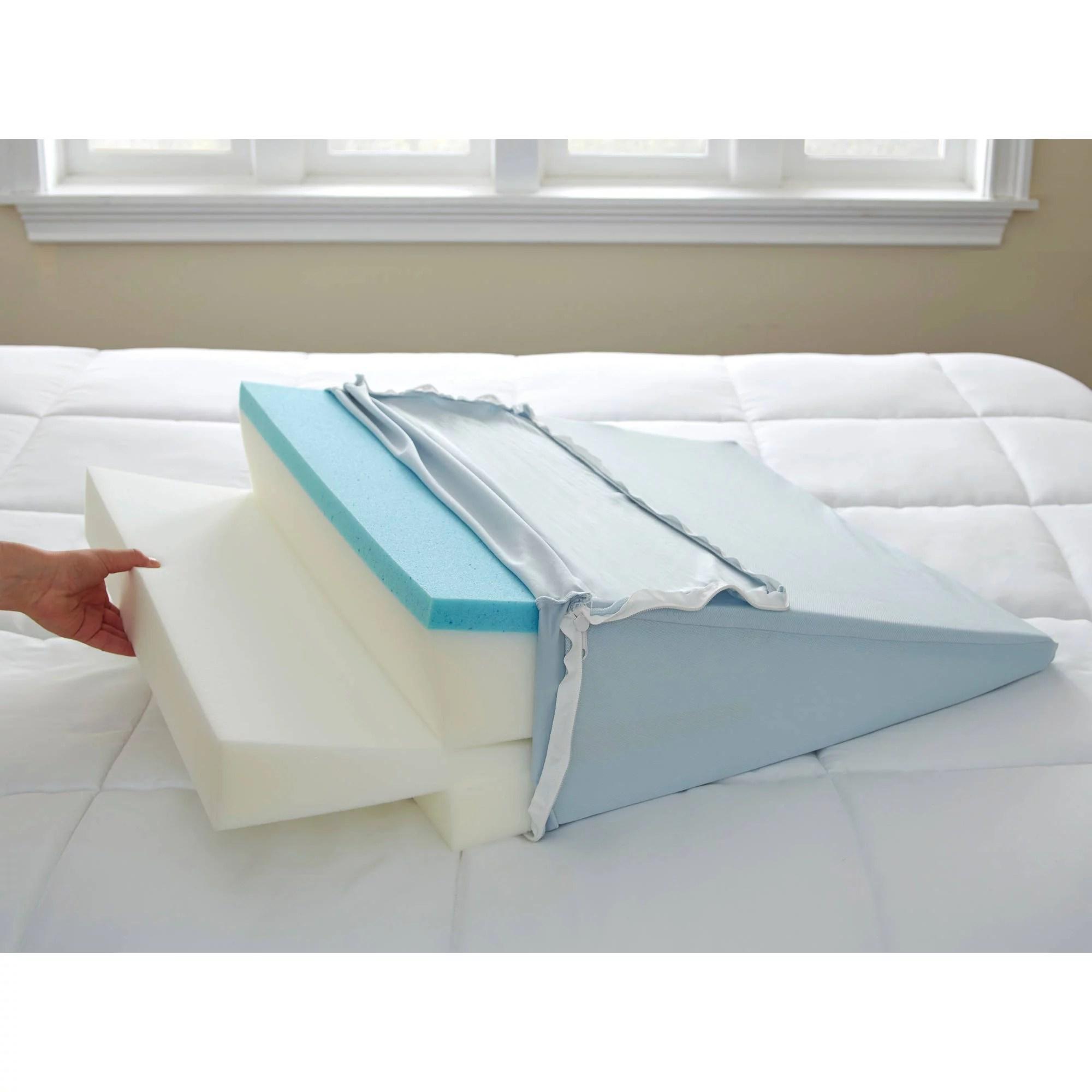 thomasville adjustable gel memory foam wedge bed pillow