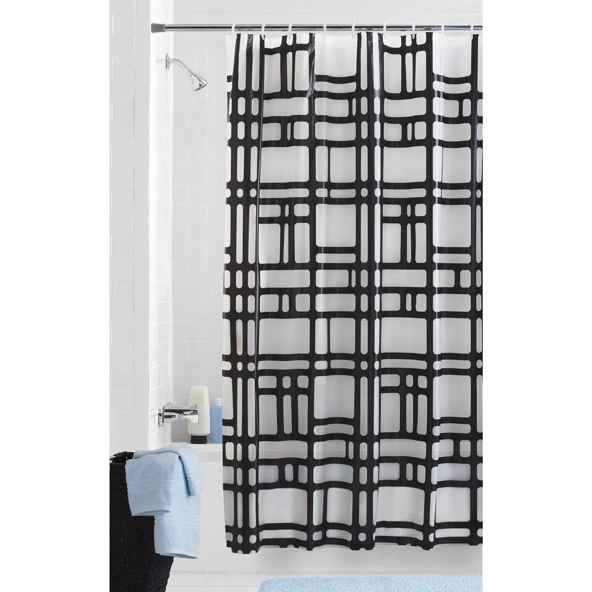 mainstays elements geometric peva shower curtain patterned 70 x 72