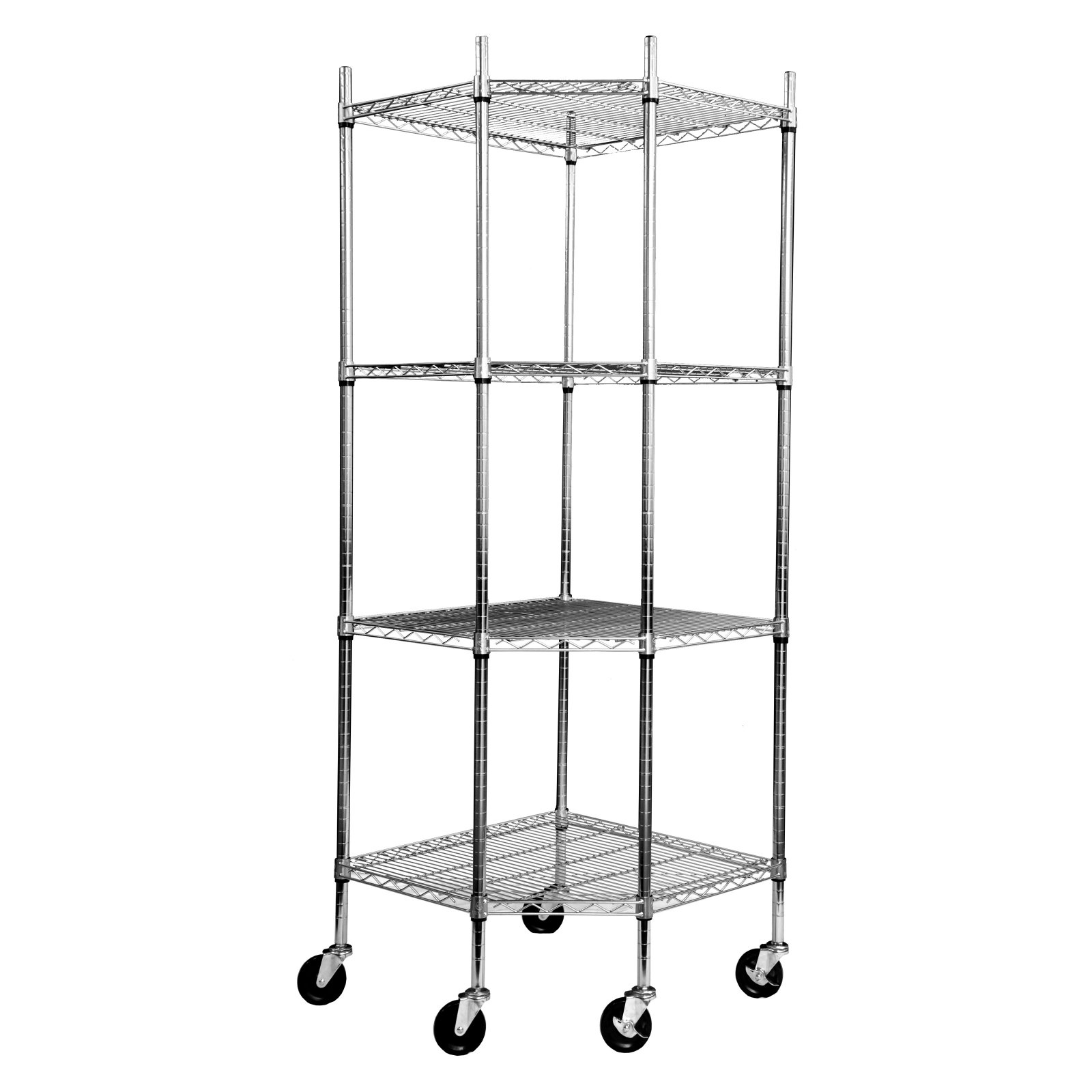 Ecostorage Chrome Wire Shelving Tier Wheels 6 1 Rack Trinity