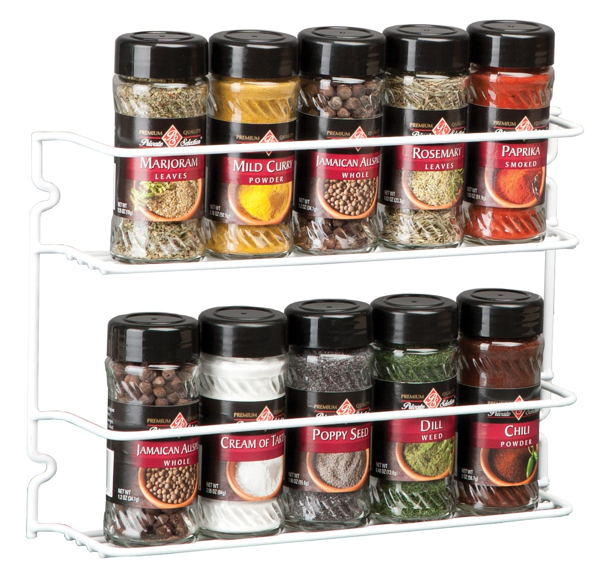 ap products 004 504 white stainless steel spice rack walmart com