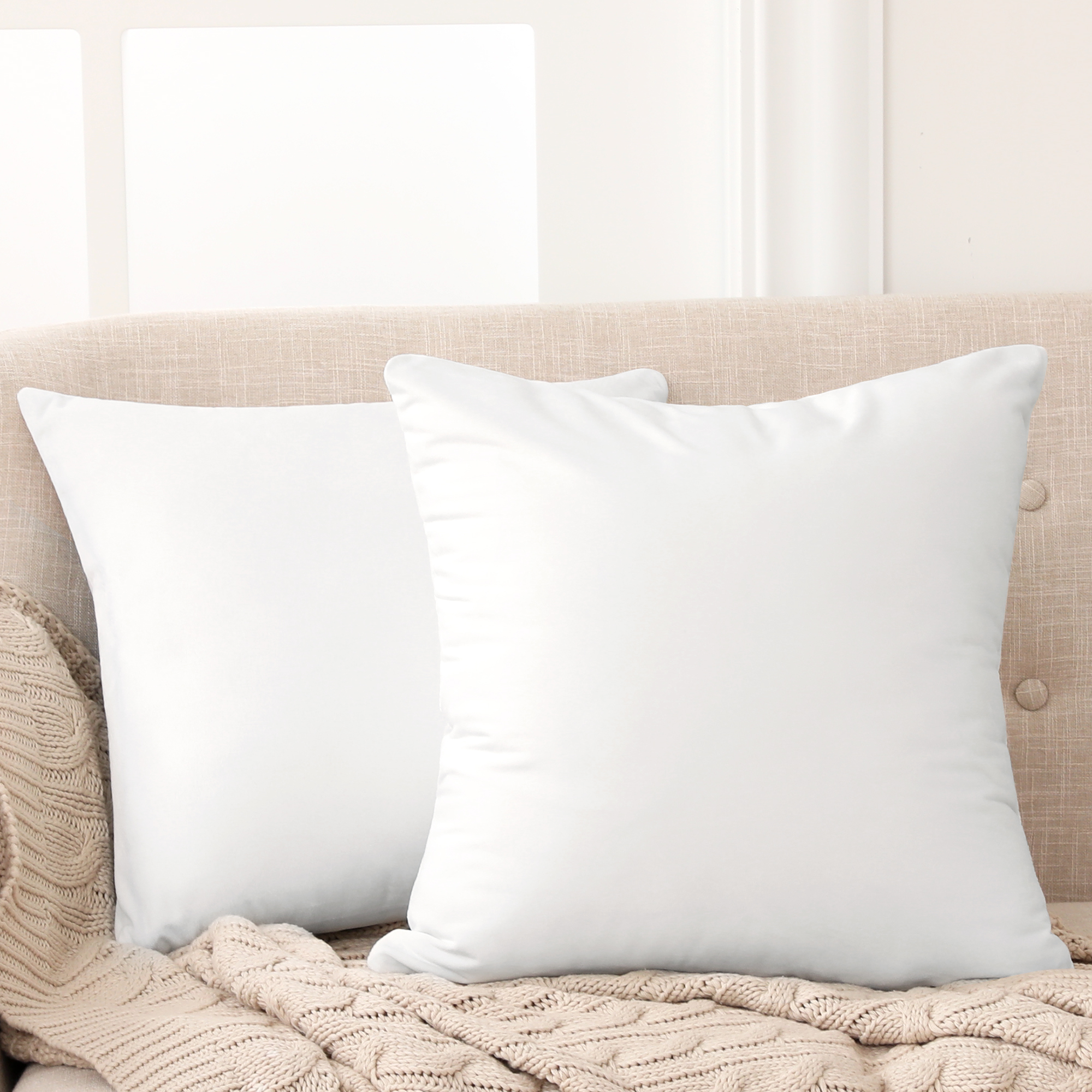 white pillow covers 24x24
