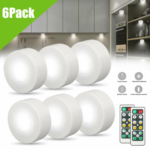 led puck light with remote control rgb color changing led under cabinet lighting battery powered touch control led closet lights for kitchen