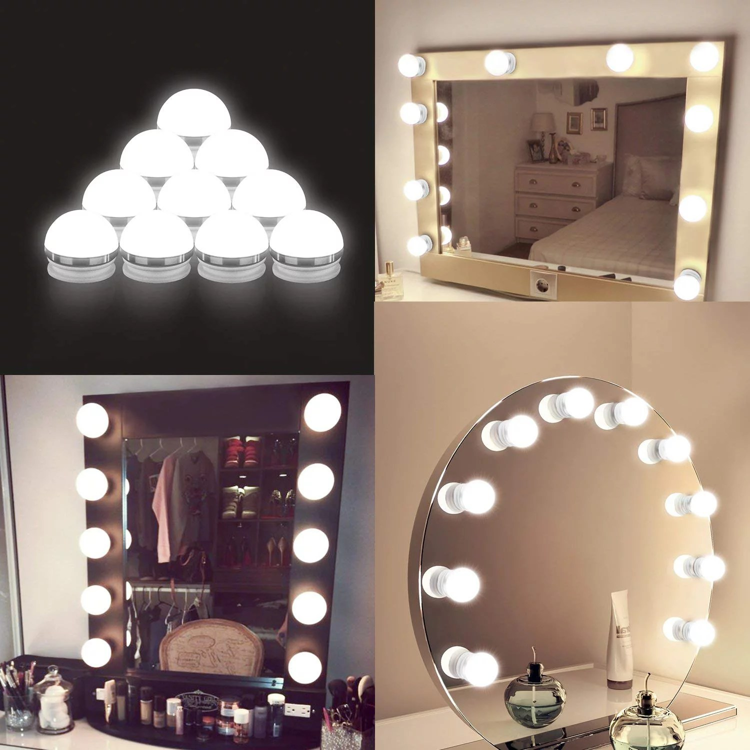 vanity lights for mirror diy hollywood lighted makeup vanity mirror with dimmable lights stick on led mirror light kit for vanity set plug in