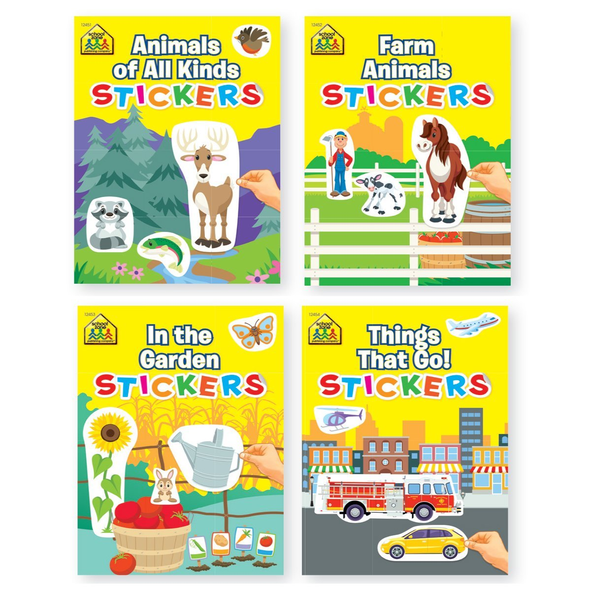 Bundle of 4 Childrens Activity Sticker Books 4 Titles
