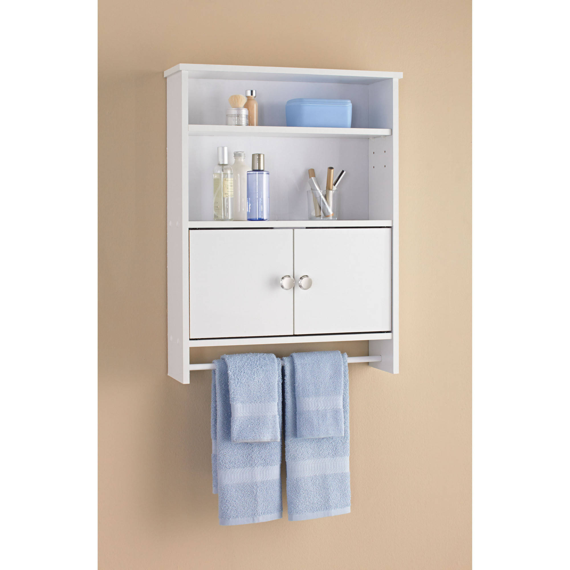 Mainstays 2 Door Bathroom Wall Cabinet White Walmart Com Walmart Com