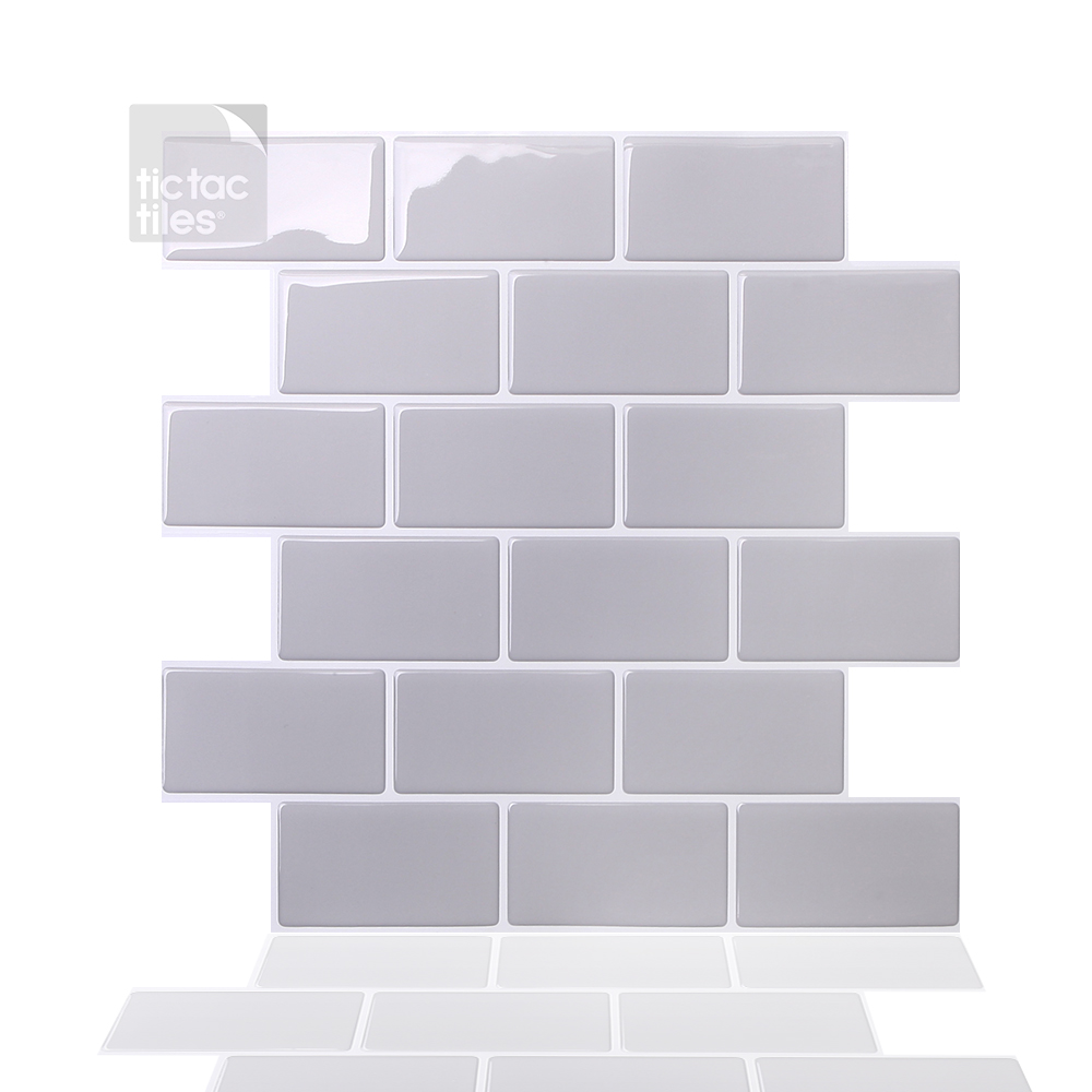 tic tac tiles 10 sheet 12 x 12 peel and stick self adhesive removable stick on kitchen backsplash bathroom 3d wall sticker wallpaper tiles in