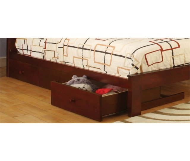 Furniture Of America Gosney 3 Underbed Storage Drawers In Cherry Walmart Com