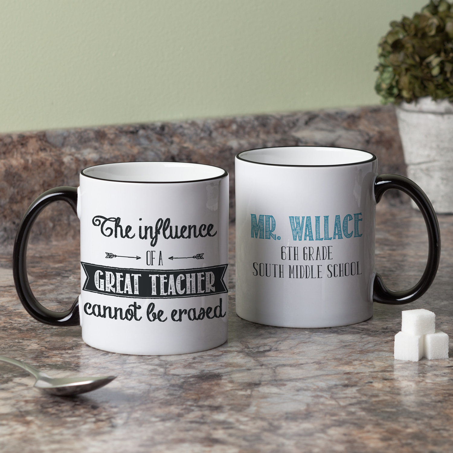 Personalized Teacher Coffee Mug – The Influence Of A Teacher Cannot Be Erased