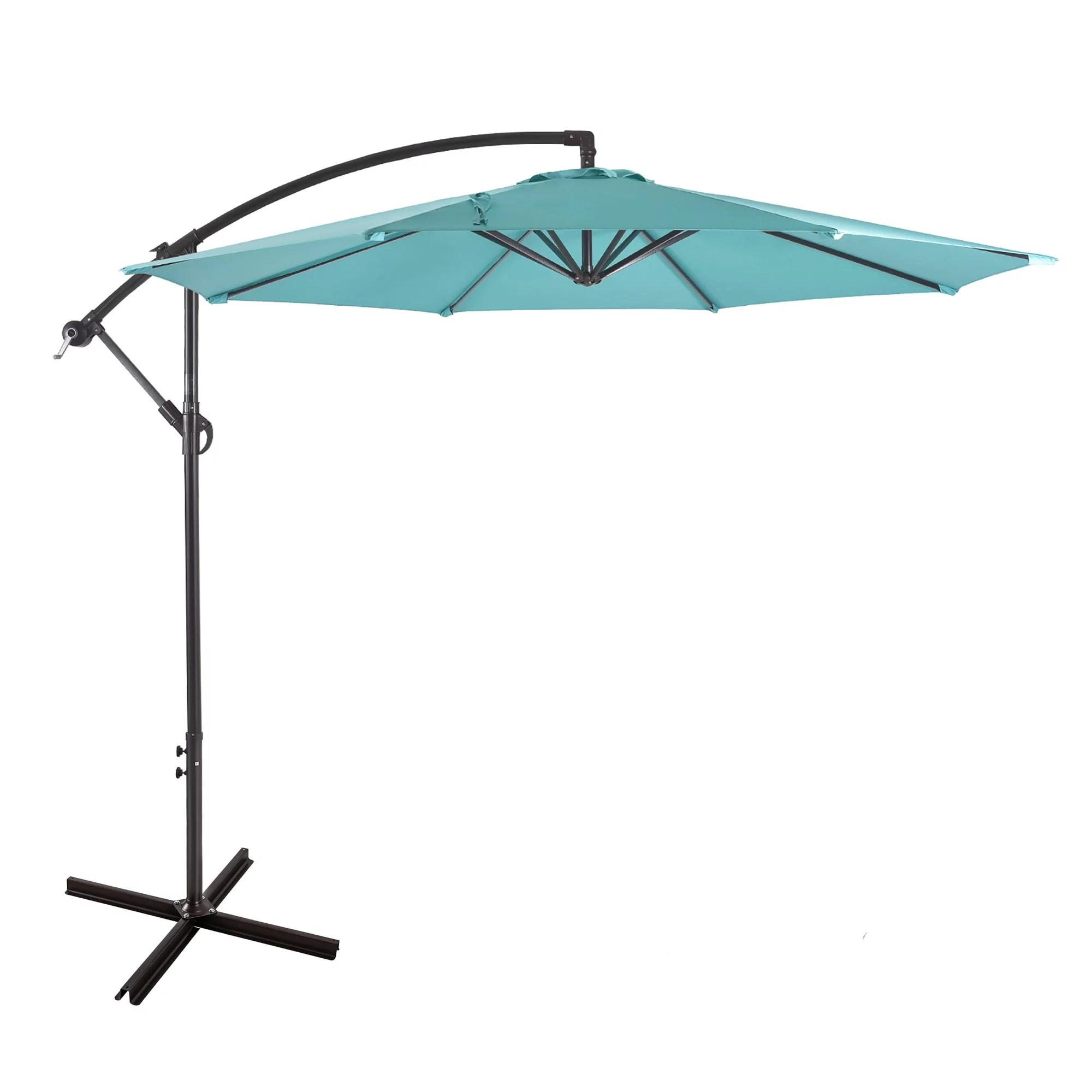 10 ft outdoor patio cantilever offset umbrella turquoise walmart com