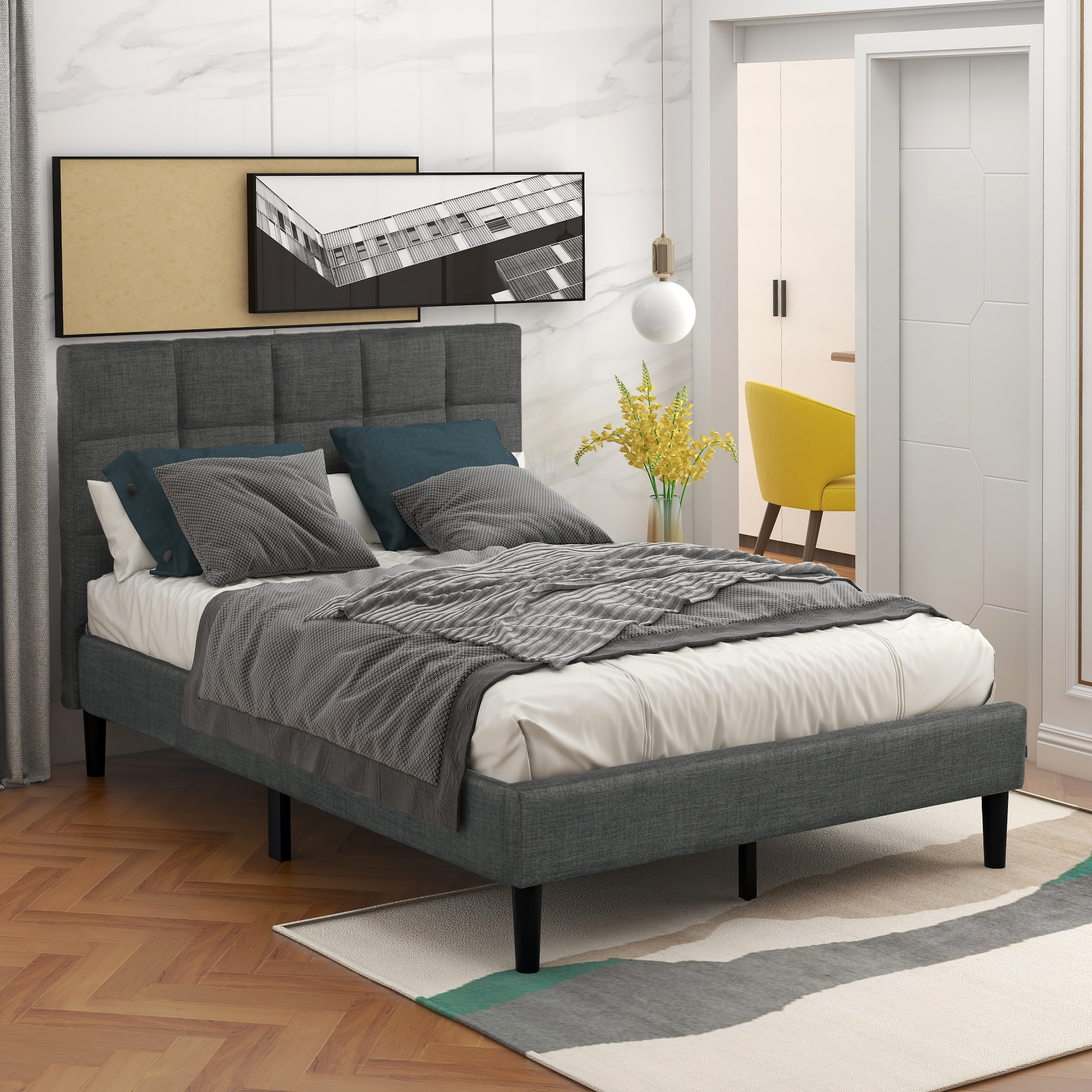 clearance twin bed frame no box spring needed 2020 on walmart bedroom furniture clearance id=97082