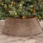 Holiday Time Natural Seagrass Woven Christmas Tree Collar 27 Walmart Com Walmart Com