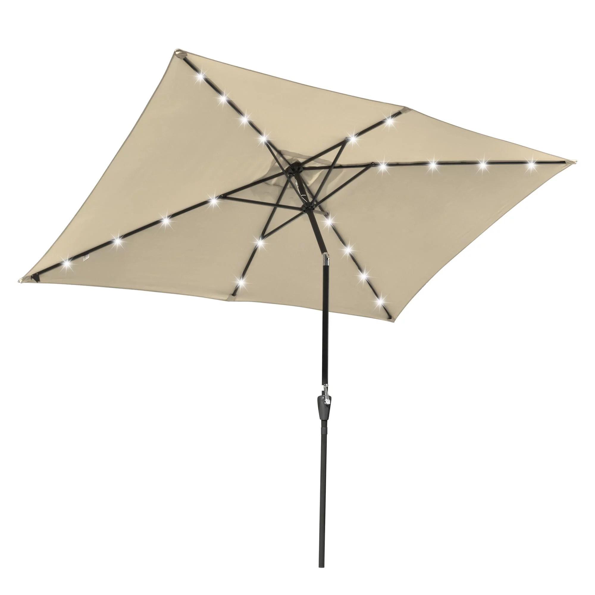 2x3m rectangle outdoor patio umbrella