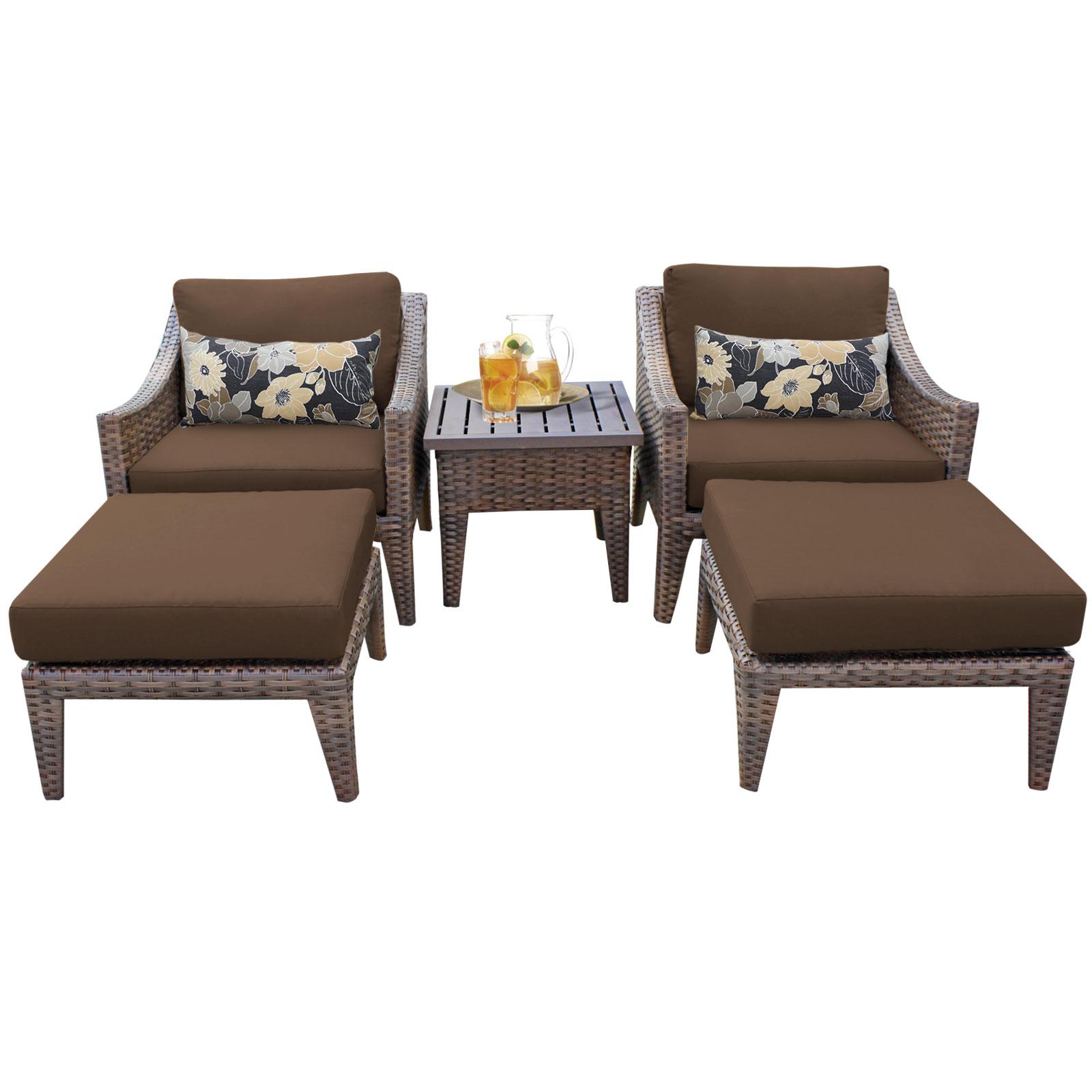 walmart wicker patio furniture sets Soho 5 Piece Outdoor Wicker Patio Furniture Set 05e