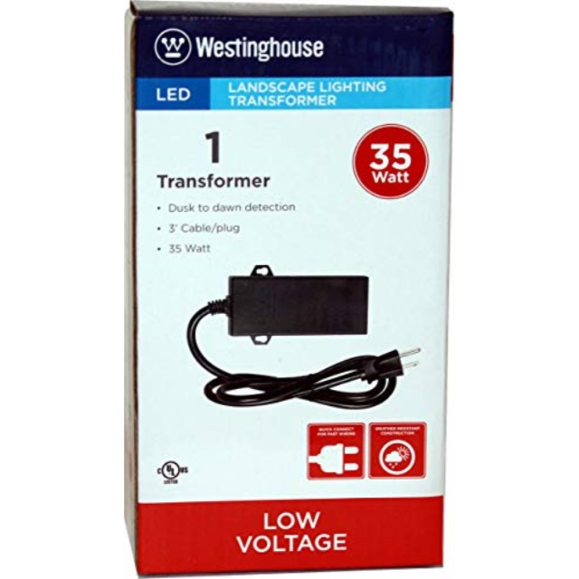 westinghouse 35 w led outdoor lighting transformer with photo cell 700012 06w walmart com