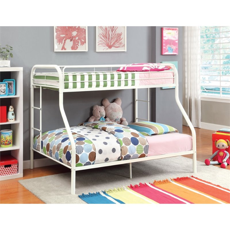 furniture of america capelli twin over full metal bunk bed on walmart bedroom furniture clearance id=81367