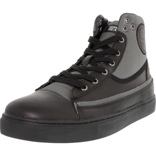 Kenneth Cole Men's Done-Zo Black Ankle-High Leather Fashion Sneaker - 10M