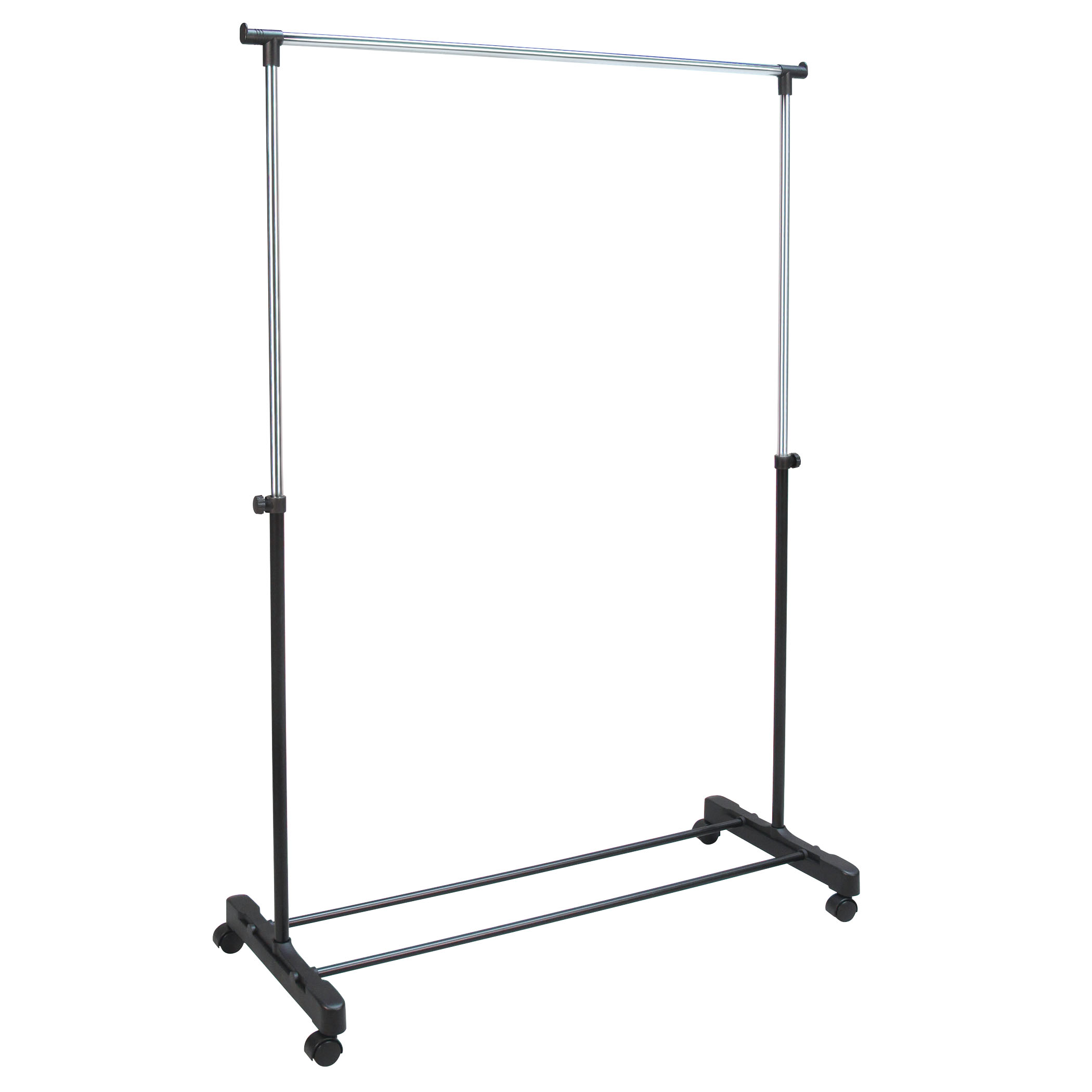 garment rack rolling and adjustable from 32 to 60 chrome finish