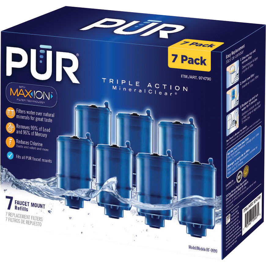 pur mineralclear 7 piece replacement water filter with maxion technology