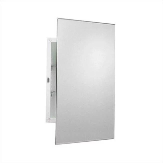 zenith products mm1027 armoire pharmacie avec porte miroir miroir sans cadre de 16 po
