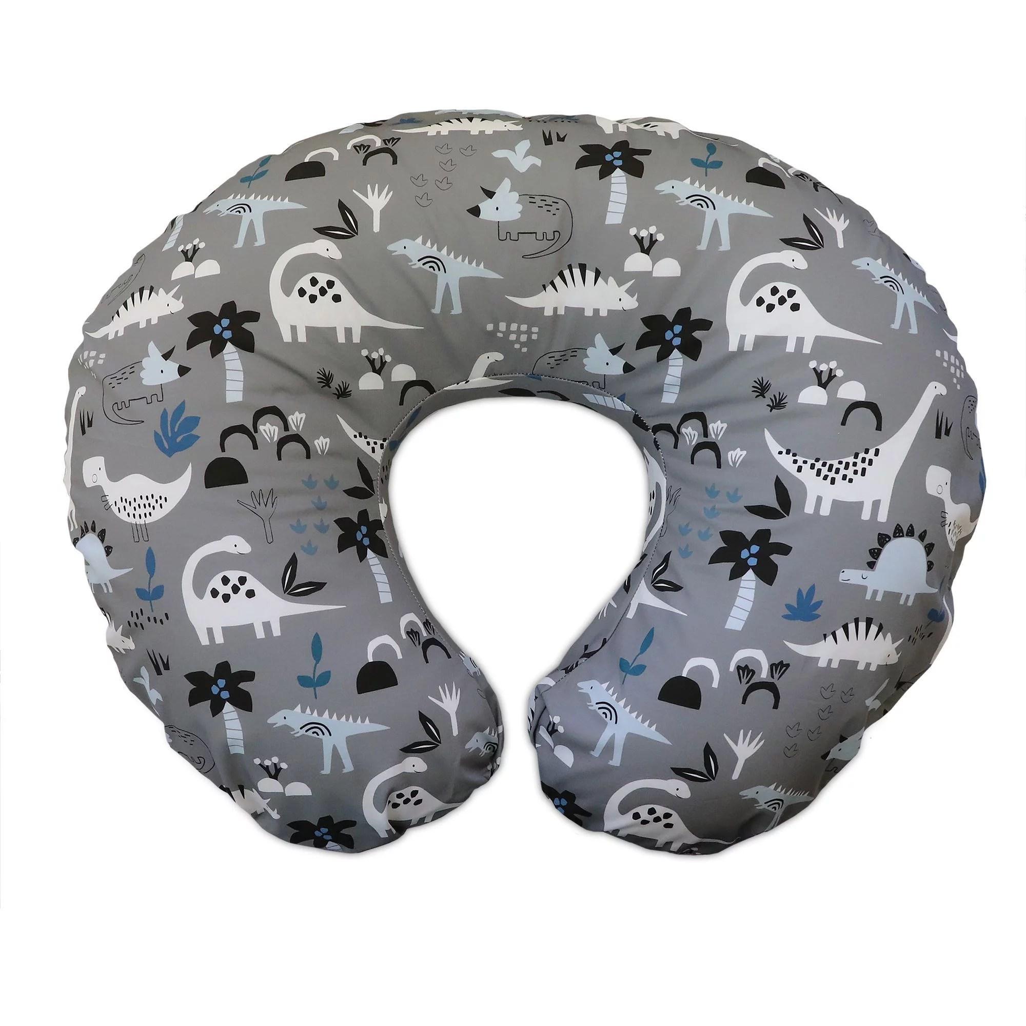 boppy original nursing pillow and positioner cotton blend gray dinosaurs