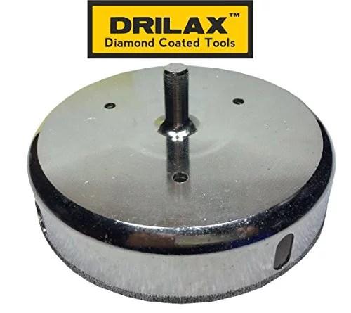 drilax 6 5 16 inch diamond hole saw glass cutting ceramic porcelain tile saw marble granite quartz coated circular larger than 6 inch drill bit