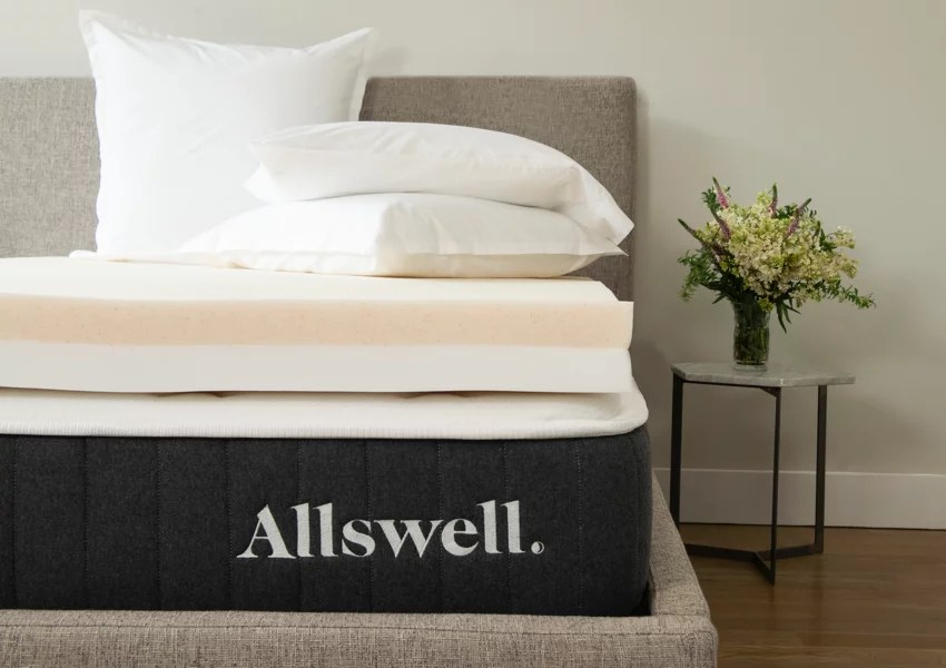 allswell 4 memory foam mattress topper infused with copper gel queen walmart com