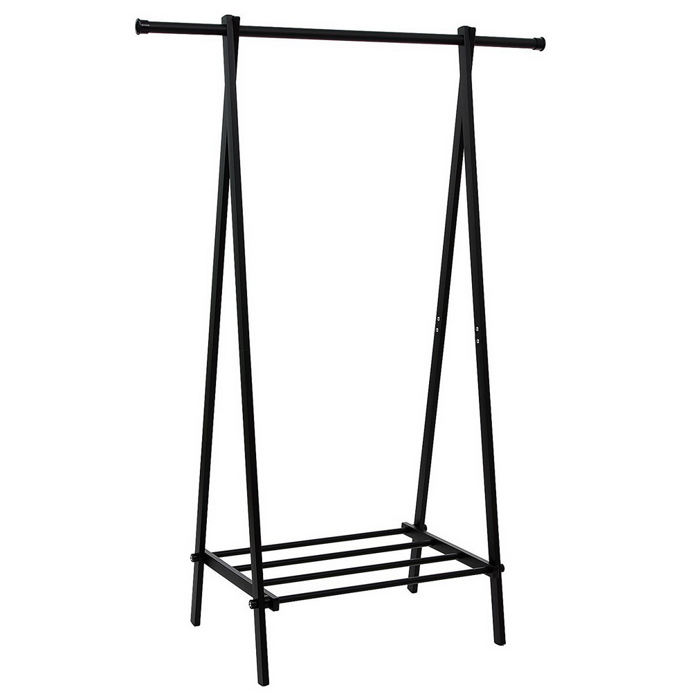 segmart heavy duty black metal clothes laundry rack with lower shoe shelf a frame design garment stand portable extra large garment rack for