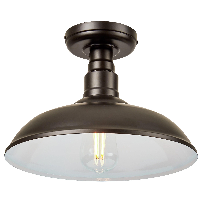 better homes gardens semi flush mount ceiling light modern farmhouse oil rubbed bronze finish walmart com