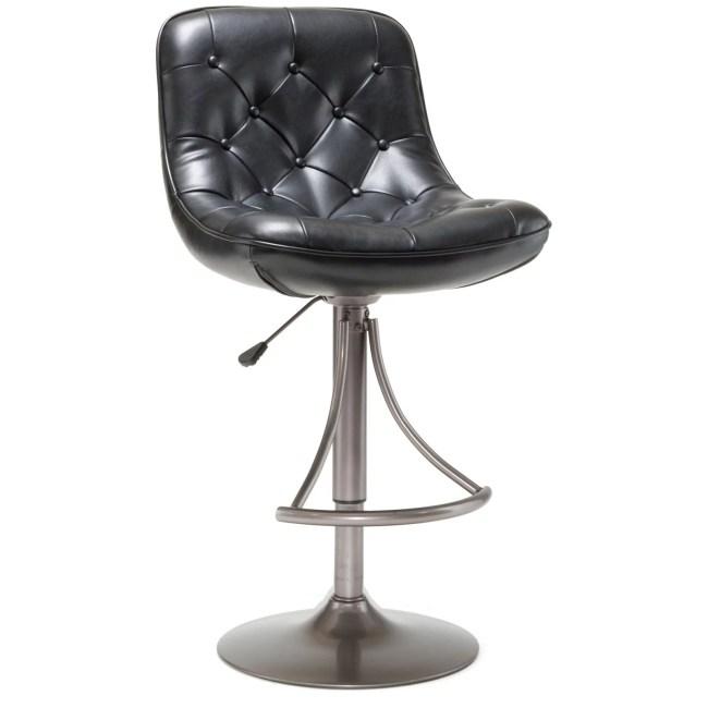 Hillsdale Furniture Aspen Adjustable Bar Stool, Oyster Gray Finish