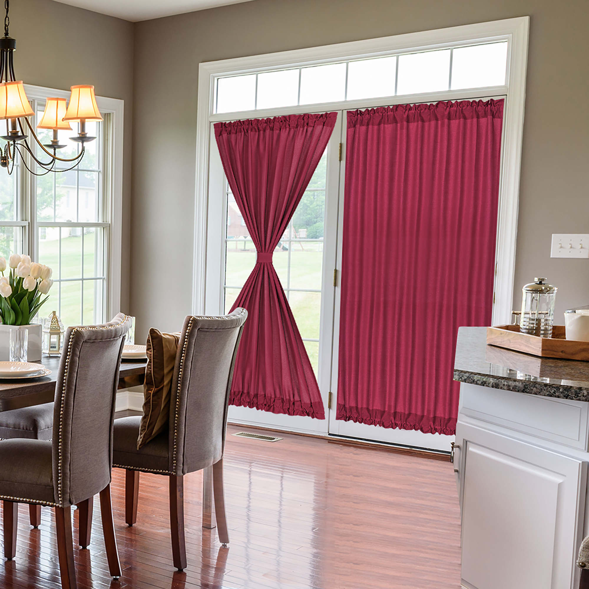 french door curtains thermal insulated blackout curtain rod door window panel curtain 54 x 72 inch burgundy