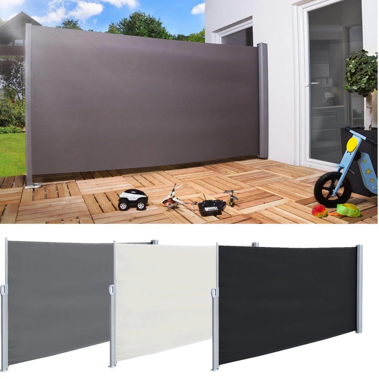 5 9 x9 8 sunshade retractable outdoor patio privacy divider screen walmart com