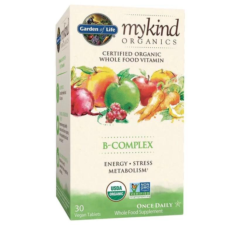 Garden of Life myKind Organics B-Complex Tablets, 30Ct