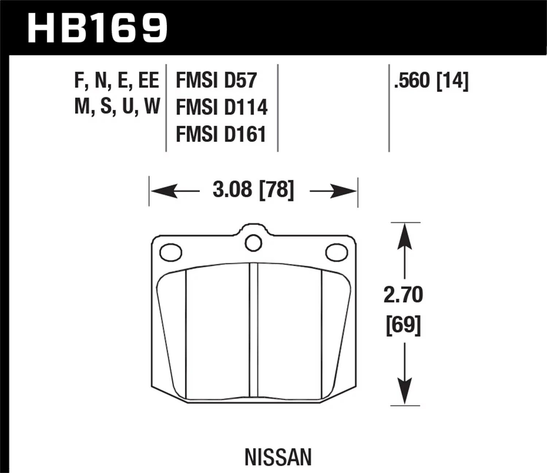 Hawk Nissan 810 240z 260z 280z 620 Toyota Corona