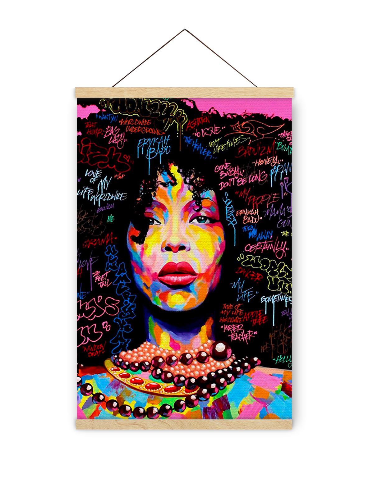awkward styles wooden magnetic poster hanger frame african pop art canvas photo picture poster artwork print for framing hanging kit wooden poster